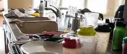 Verschmutzte Küche